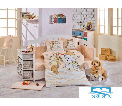 Комплект постельного белья с одеялом детское поплин