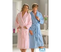 1501000814 Махровый халат L 'ANGORA', голубой, 100% Хлопок