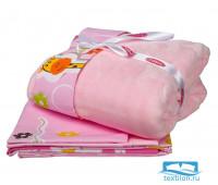 1501001278 КПБ детское поплин с покрывалом 'PUFFY', розовый