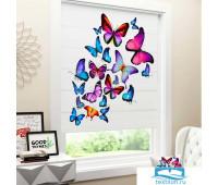 Римские ФОТОшторы габардин 80*170 Яркие бабочки 4