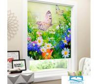 Римские ФОТОшторы блэкаут 100*170 Луговые бабочки