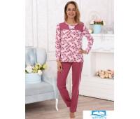 Эвита (розы) пижама (розы) р.64, 100% хлопок