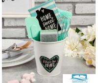 Набор подарочный 'Sweet home' ведро, полотенце 30х60, лопатка