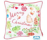 Чехол для подушки с кантом 'Рождество', 702-6909/1