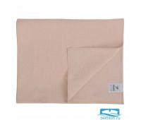 Дорожка на стол из умягченного льна розово-пудрового цвета из