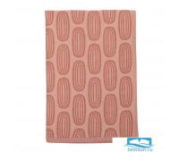 Полотенце кухонное с принтом Sketch бордового цвета из