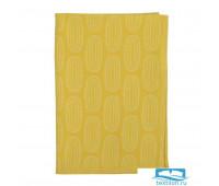 Полотенце кухонное с принтом Sketch горчично-желтого цвета из