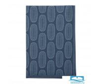 Полотенце кухонное с принтом Sketch синего цвета из коллекции