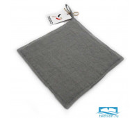 Прихватка из умягченного льна серого цвета Essential, 22х22 см