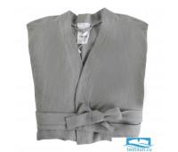 Халат из умягченного льна серого цвета Essential, размер S