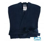 Халат из умягченного льна темно-синего цвета Essential