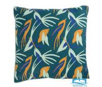 Чехол для подушки зеленого цвета с дизайнерским принтом Birds