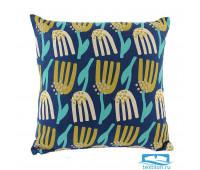 Чехол для подушки темно-синего цвета с графичным принтом Lazy