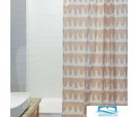 Штора для ванной Popple цвета пыльной розы Cuts&Pieces
