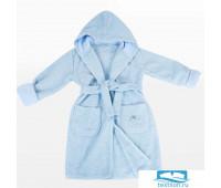 Детский халат Махра Dome,Krummer, 9-10 лет Голубой, 380гр 20с25