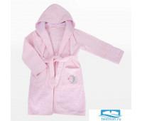Детский халат Махра Dome,Krummer, 9-10 лет Розовый, 380гр 20с24