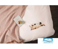 Комплект постельного белья Поросенок Розовый 150х200см
