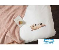 Комплект постельного белья Поросенок Белый 150х200см