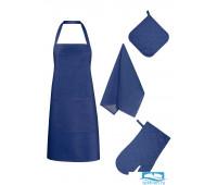 НКСИН-18-20-40-60-2 Набор кухонный цвет: Синий рогожка
