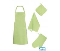 НКСЛТ-Ф80-ПВП Набор кухонный цвет: Салатовый рогожка Фартук