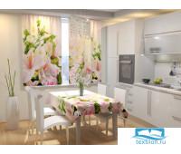 Фотоскатерть для кухни Нежные цветы 145х145 см