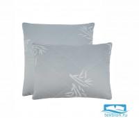 Подушка стеганая 'Угольный бамбук' (почта) 50х70 см