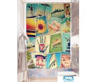Фотоштора для ванной (джордан 180х200 см - 1 шт) Фотомозаика