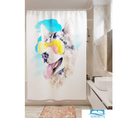 Фотоштора для ванной (джордан 180х200 см - 1 шт) Хаски из