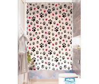 Фотоштора для ванной (джордан 180х200 см - 1 шт) Щенячьи следы