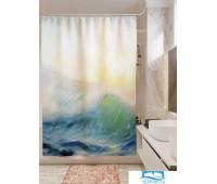 Фотоштора для ванной (джордан 180х200 см - 1 шт) Шторм