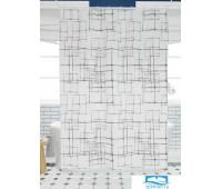 Фотоштора для ванной (джордан 180х200 см - 1 шт) Черно-белая