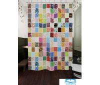 Фотоштора для ванной (джордан 180х200 см - 1 шт) Цветные