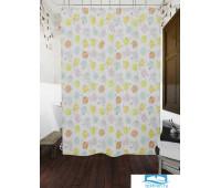 Фотоштора для ванной (джордан 180х200 см - 1 шт) Цветы и