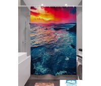 Фотоштора для ванной (джордан 180х200 см - 1 шт) Яркий закат