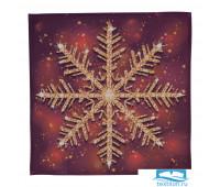 СЛГБ012-15988 Салфетки 'Переливающаяся снежинка', 40*40 см