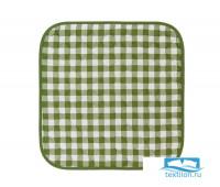 СЛр-клзел-40-40 Подушка на стул цвет: Клетка зеленая 40х40 см