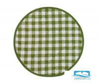 СРл-клзел-34 Подушка на стул круглая цвет: Клетка зеленая d=34