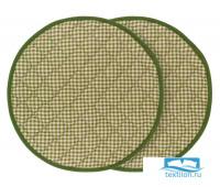 СРл-шек-34/2 Набор круглых подушек на стул цвет: Шекспир клетка