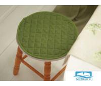 СРт-зел-34 Подушка на стул круглая цвет: Зеленый d=34 см