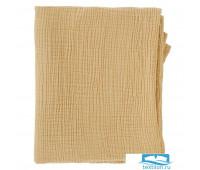 Одеяло из жатого хлопка горчичного цвета из коллекции Essential
