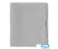 Одеяло из жатого хлопка серого цвета из коллекции Essential