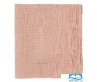 Одеяло из жатого хлопка цвета пыльной розы из коллекции