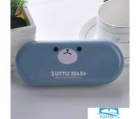 TR-BF10129/BLUE Футляр для очков «3 Little Bear» синий