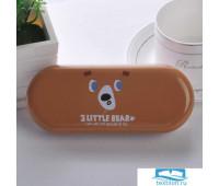 TR-BF10129/BROWN Футляр для очков «3 Little Bear» коричневый