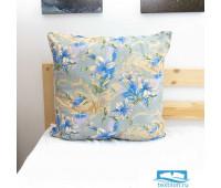 Подушка Лебяжий пух Лилии 004 цвет синий 60/60, средняя