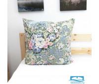Подушка Лебяжий пух Цветы 004 цвет синий 60/60, средняя