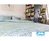 Комплект постельного белья Косичка зеленый Фланел2 200х220