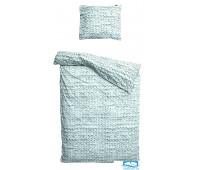 Комплект постельного белья Косичка зеленый Фланел1 150х200