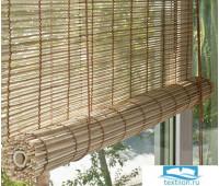 Рулонные шторы, бамбук, натур, 120х160см, 71000120160