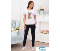 Бьянка футболка жен. р.42, 95% хлопок, 5% лайкра